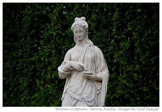 Sculptures of women, Vienna, Austria - images by Sunil Deepak, 2010-2013