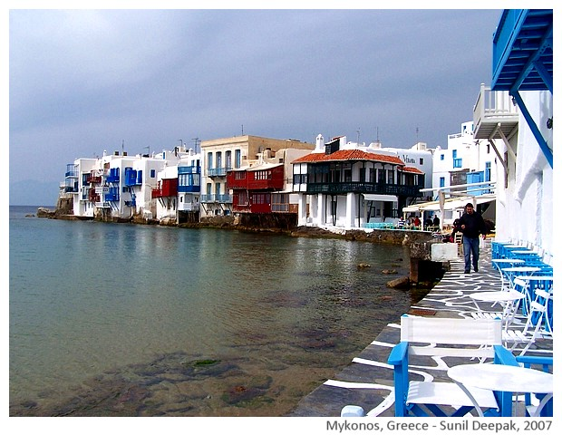 Water & colours - Mykonos Greece - images by Sunil Deepak, 2007