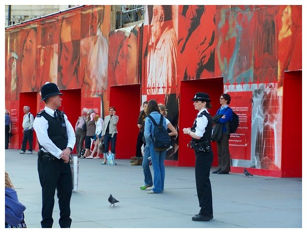 Images in red - London, Britain
