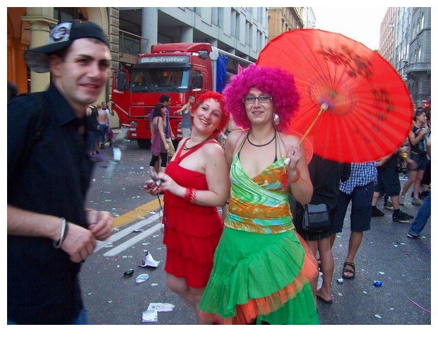 Images in red - Gay Pride, Bologna, Italy