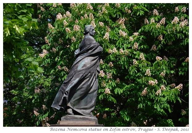 Bozena Nemcova statue, Zofen ostrov, Prague - images by S. Deepak