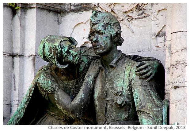 Charles de Coster monument, Brussels, Belgium - images by Sunil Deepak, 2013