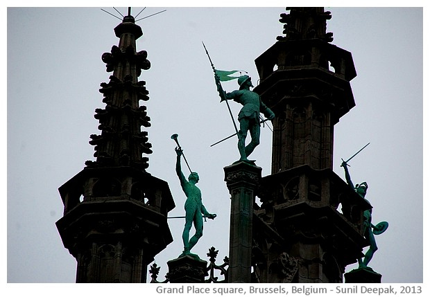 Grand place, Brussels, Belgium - images by Sunil Deepak, 2014