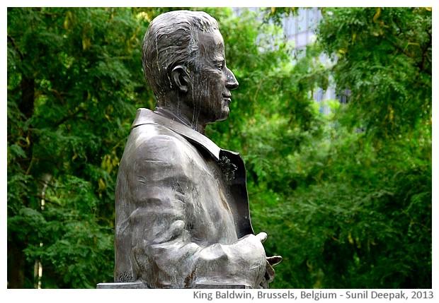 King Baldwin statue, Brussels, Belgium - images by Sunil Deepak, 2013