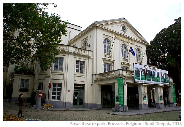 Royal theatre park, Brussels, Belgium - images by Sunil Deepak, 2013