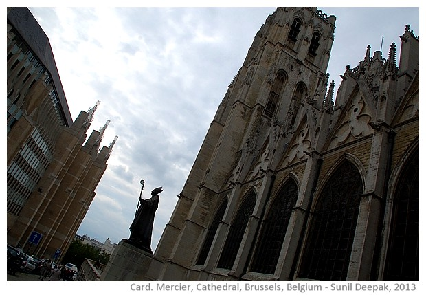 Cardinal Mercier, Cathedral, Brussels, Belgium - images by Sunil Deepak, 2013
