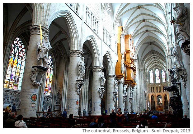 Cathedral, Brussels, Belgium - images by Sunil Deepak, 2013