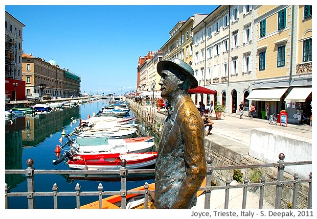James Joyce on the bridge statue, Trieste Italy - S. Deepak, 2011