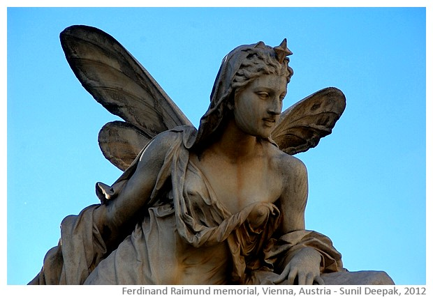Ferdinand Raimund memorial, Vienna, Austria - images by Sunil Deepak, 2012