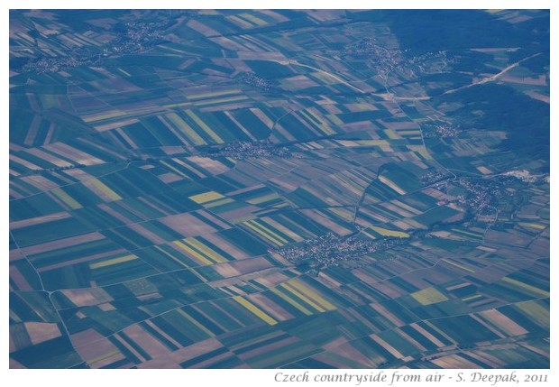 Fields around Prague from air - S. Deepak, 2011
