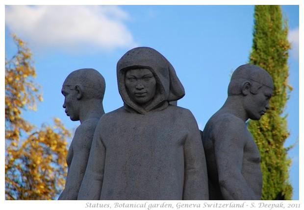 4 statues, Geneva, Switzerland - S. Deepak, 2011