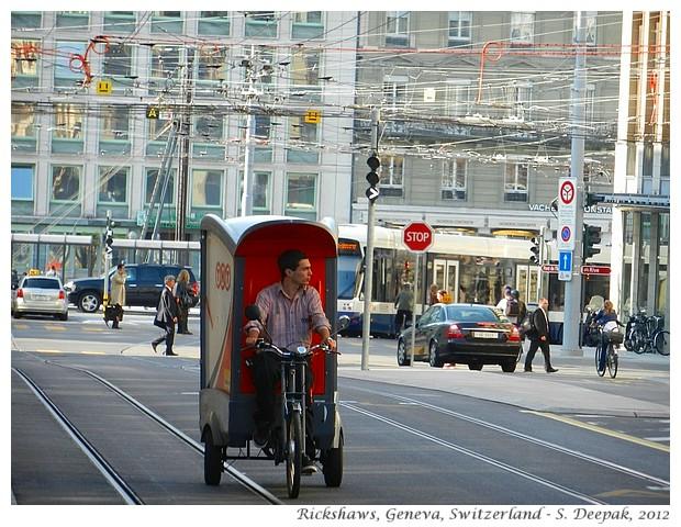 Rickshaws in Geneva, Switzerland - S. Deepak, 2012