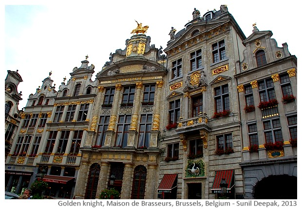 Golden knight, Maison de Brasseurs, Brussels, Belgium - images by Sunil Deepak, 2013