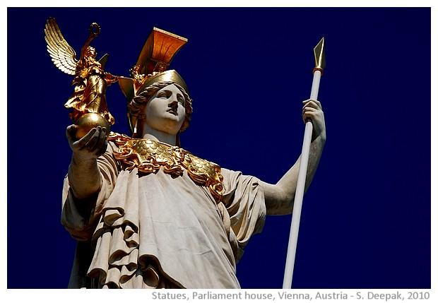 Statues, Vienna Parliament, Austria - images by Sunil Deepak, 2010