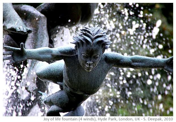 Joy of life fountain, Hyde park, UK - images by Sunil Deepak, 2010