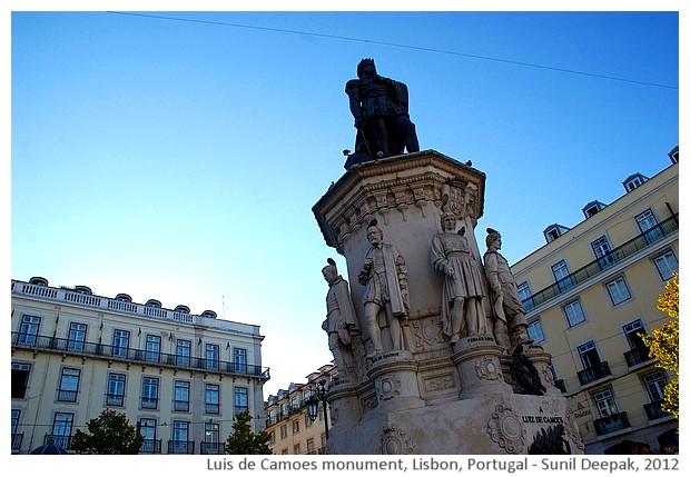 Luis de Camoes monument, Lisbon, Portugal - images by Sunil Deepak, 2012