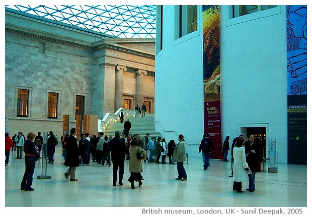 Thames, British Museum and Trafalgar square, London - images by Sunil Deepak, 2005