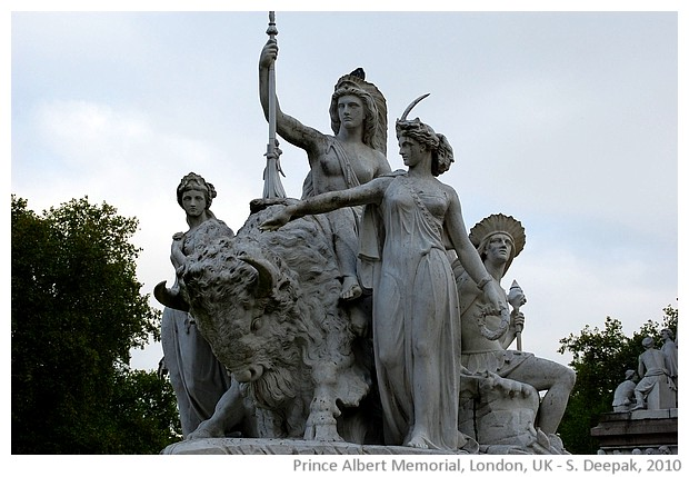 Statue groups at Albert memorial, London, UK - S. Deepak, 2010