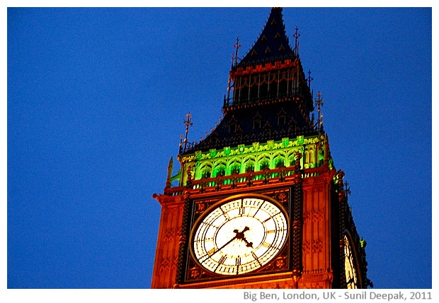 Big Ben, London,UK at night - images by Sunil Deepak, 2011