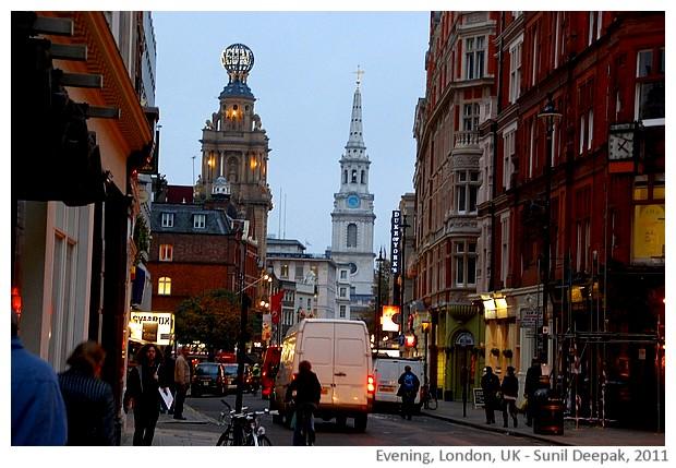 Evening lights, London, UK - images by Sunil Deepak, 2011