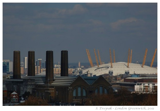 London skyline with new olympic stadium