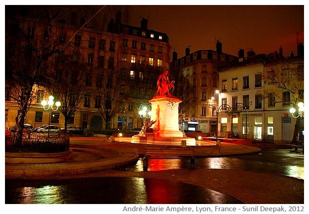 André-Marie Ampère statue, Lyon, France - images by Sunil Deepak, 2012