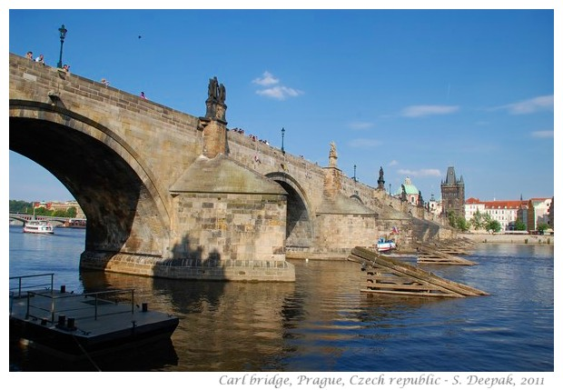 Statues on the old Carl bridge, Prague, Czech republic - S. Deepak, 2011