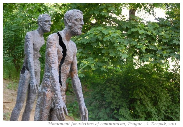 Monument to victims of communism, Prague Czech republic - images by S. Deepak