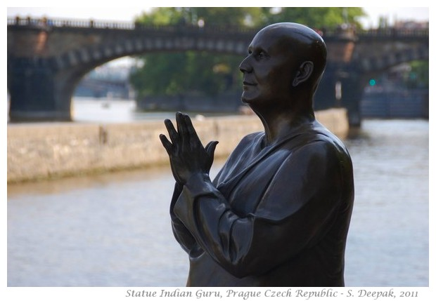 Statue of an Indian guru, Prague Czech Republic - Images by S. Deepak