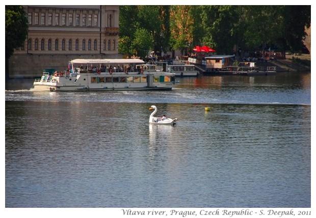 Boats on Vltava river, Prague, Czech - S. Deepak, 2011