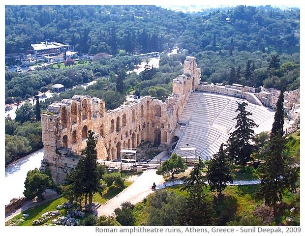 Ruins Roman amphitheatre, Athens, Greece - images by Sunil Deepak, 2013