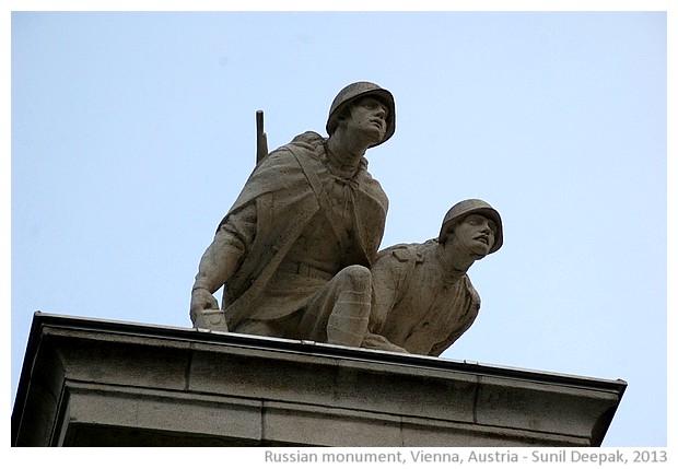 Russian monument, Vienna, Austria - images by Sunil Deepak, 2013
