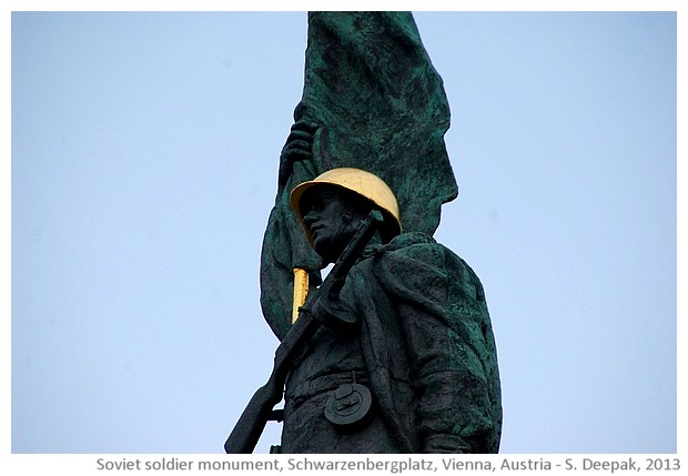 Soviet hero monument, Vienna, Austria - images by Sunil Deepak, 2013