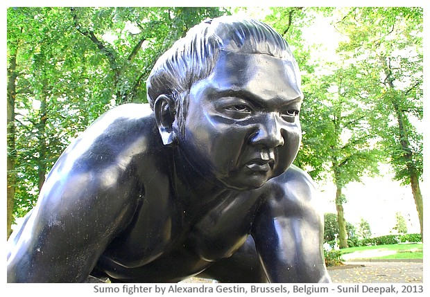 Sumo fighter, Alexandra Gestin, Brussels, Belgium - images by Sunil Deepak, 2013