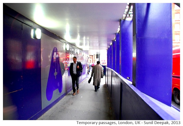 Temporary passages, London, UK - images by Sunil Deepak, 2013