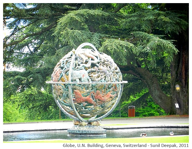 Life globe for Woodrow Wilson, Geneva, Switzerland - images by Sunil Deepak, 2011