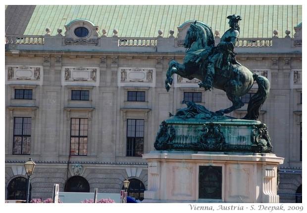 Horsemen statues, Vienna, Austria - S. Deepak, 2009
