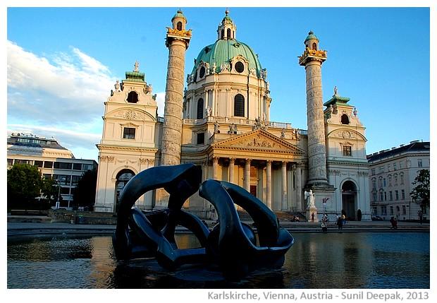 Karlskirche, Vienna, Austria - images by Sunil Deepak, 2013