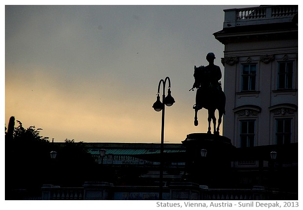 Statues in Vienna, Austria - images by Sunil Deepak, 2013