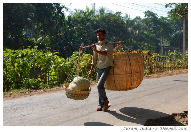 Village life, Amingaon, Assam, India - images by S. Deepak