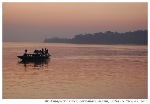Ferry boats on Brahmaputra river - S. Deepak, 2010