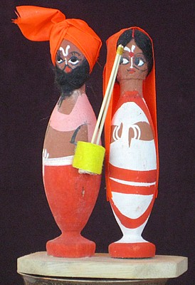 Baul dolls from Sally Grossman's Baul Music archive