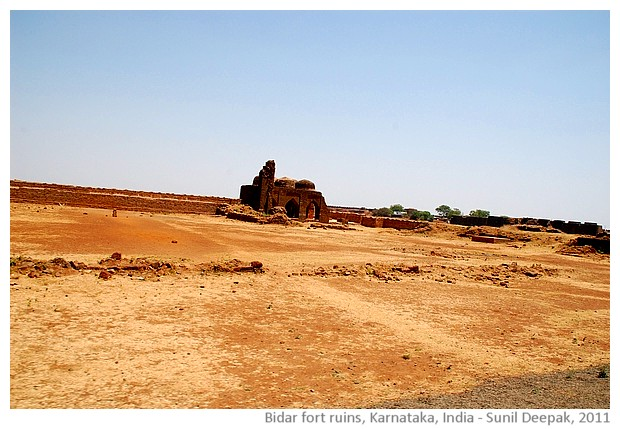 Ruins of Bidar fort, Karnataka, India - images by Sunil Deepak, 2011