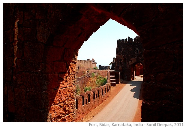 Bidar fort entrance, Karnataka, India - images by Sunil Deepak, 2011