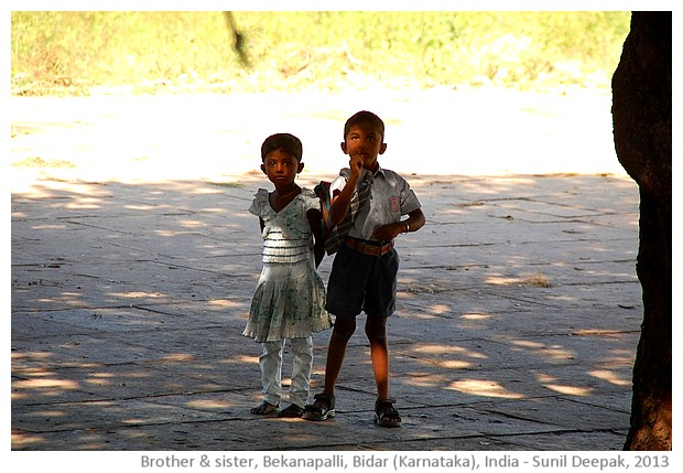 Boy and girl, Bidar Karnataka, India - images by Sunil Deepak, 2013