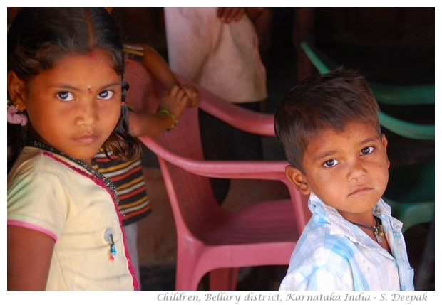 Children, Bellary district, Karnataka India - images by S. Deepak