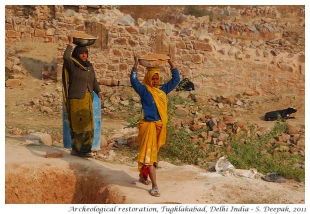 Archeological restoration Tughlakabad, Delhi - S. Deepak, 2011