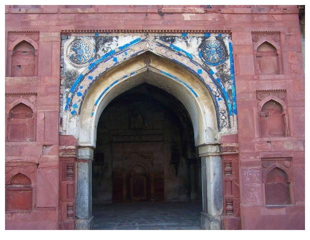 Blue colour in medieval Islamic architecture, Delhi