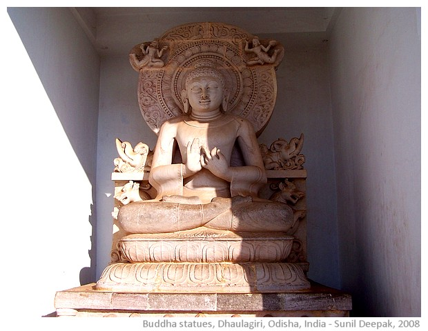 Different gestures of Buddha, Dhaulagiri, Odisha, India - images by Sunil Deepak, 2008