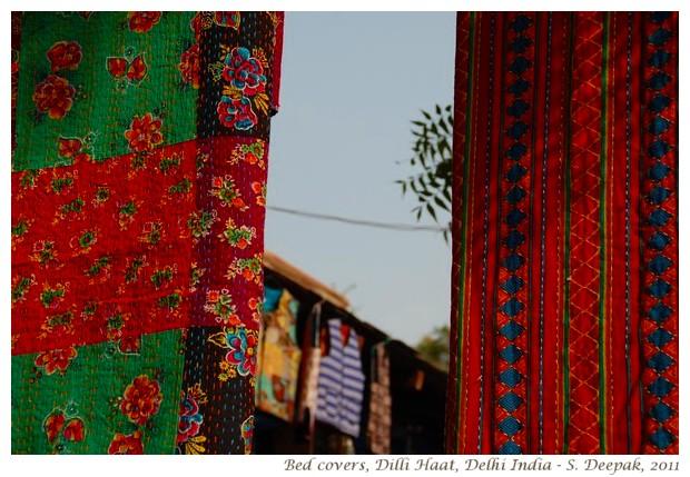 Beautiful bed covers, Dilli Haat, Delhi India - S. Deepak, 2011